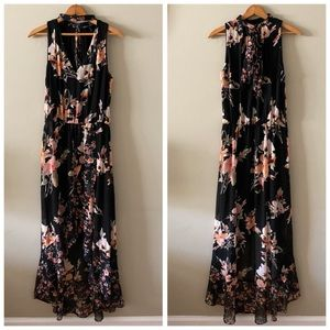 WHBM floral high-low MAXI dress